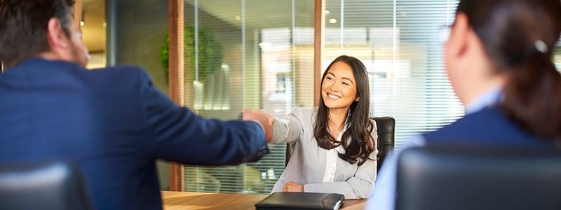 Successful job interview 800x300